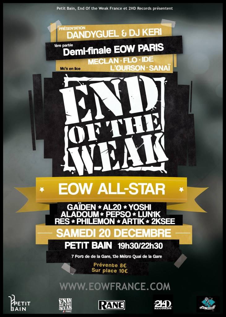 Affiche_End_of_the_Weak_All_Stars_et_Demi-finale_Paris_-_20-12-14